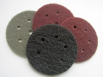 150mm Non Woven Fleece Velours Backed Discs 6 And 9 Holes ( Scotchbrite Type )
