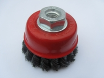 TWIST KNOT WIRE CUP BRUSH 60MM DIAMETER WITH M14 THREAD FOR GRINDERS