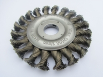 TWIST KNOT WIRE WHEEL BRUSH 115MM DIAMETER FOR ANGLE GRINDERS