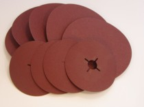 ALUMINIUM OXIDE FIBRE DISC 125mm DIAMETER