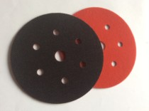 Velours / Velcro backing pad protector disc. 6 holes + 1. 150mm.