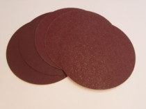 150mm Velours Backed Sanding Discs No Extraction Holes Red Aluminium Oxide