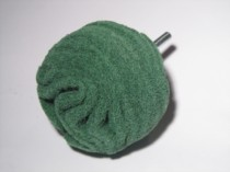 Scruff Ball Green - Medium 75mm BA320 Flexipads