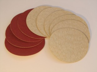 Small Aluminium Oxide Sanding Discs 75mm Velours Backed