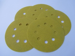 125mm Velours (velcro) Discs 8 Extraction Holes Aluminium Oxide