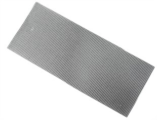 115mm x 280mm Abrasive Mesh Sanding Sheets For Half Sheet Sanders. 10 Pack.