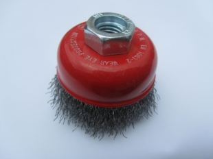 CRIMPED WIRE CUP BRUSH 60MM DIAMETER WITH M14 THREAD FOR GRINDERS