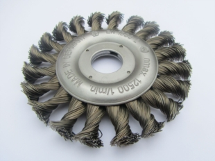 TWIST KNOT WIRE WHEEL BRUSH 125MM DIAMETER FOR ANGLE GRINDERS