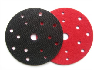 Velours / Velcro backing pad protector disc. 15 holes 150mm.