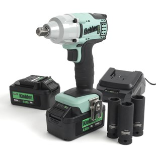 """Kielder 1/2"""" Impact Wrench  with 2 x 18volt 4ah Batts, Charger, Case and Sockets"""
