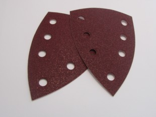 Aluminium Oxide Sanding Triangles 99 X 147mm Velours Backed