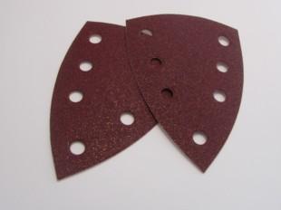 Aluminium Oxide Sanding Triangles 99 X 147mm Velours Backed