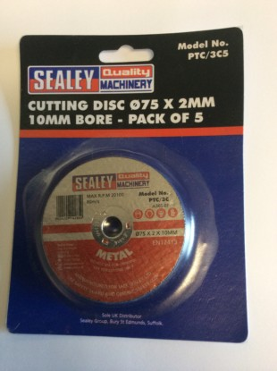 Cutting Discs 75mm Diameter With 10mm Bore