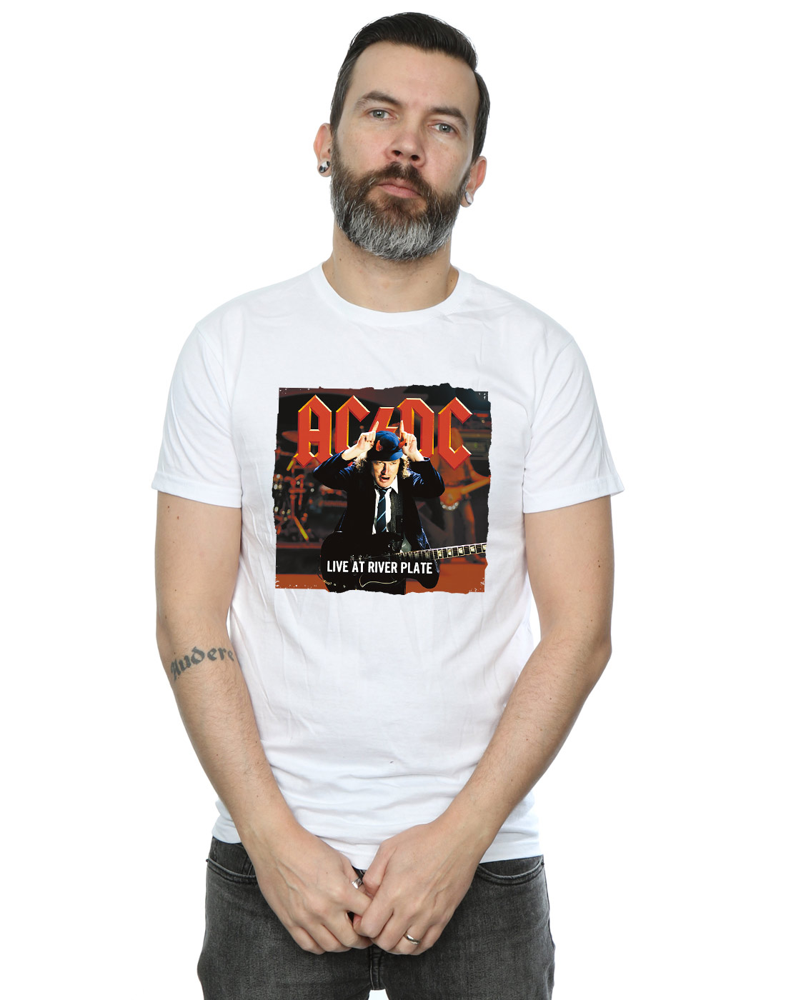 AC//DC Boys Live at River Plate Columbia Records Sweatshirt