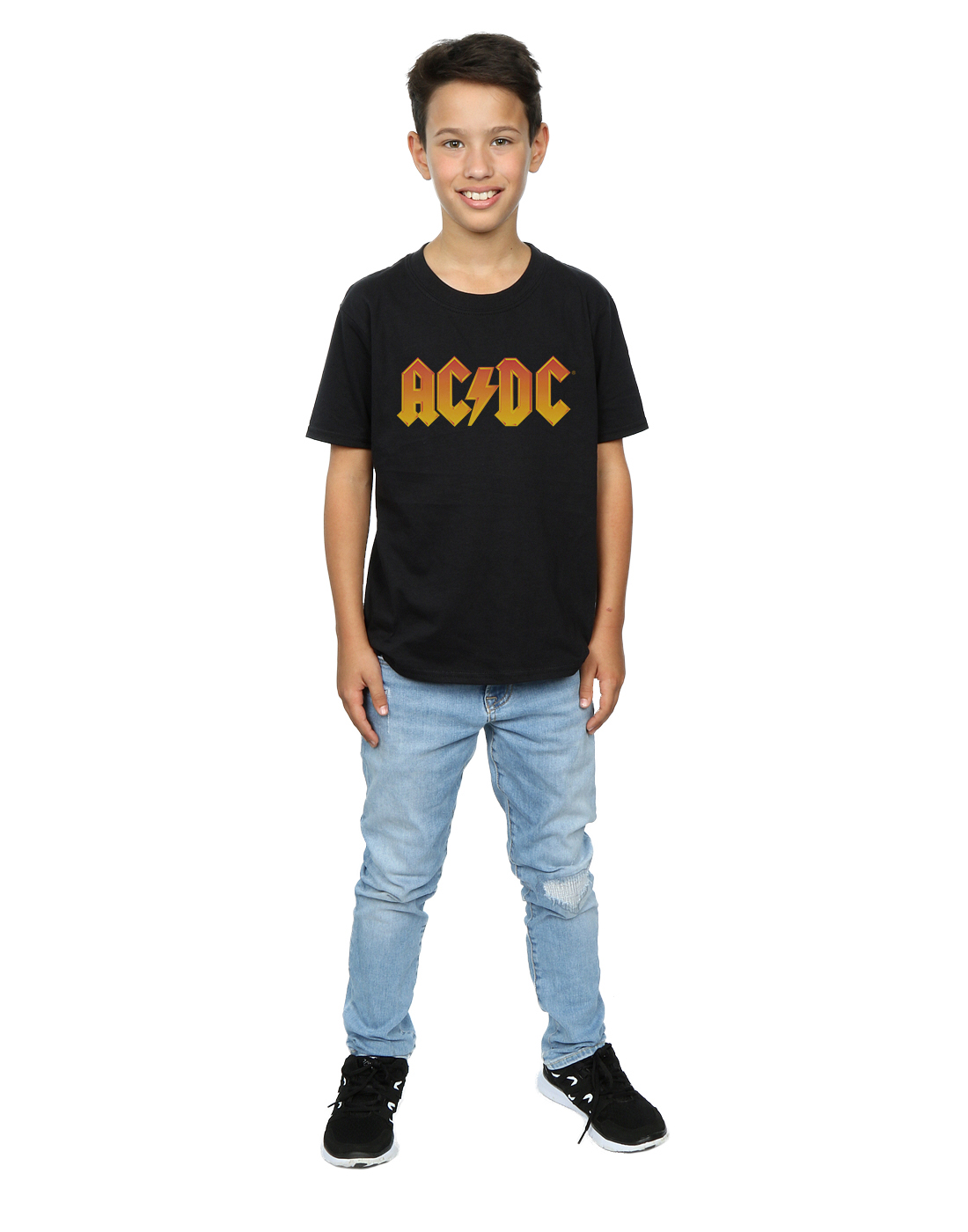 AC-DC-ninos-Fire-Logo-Camiseta