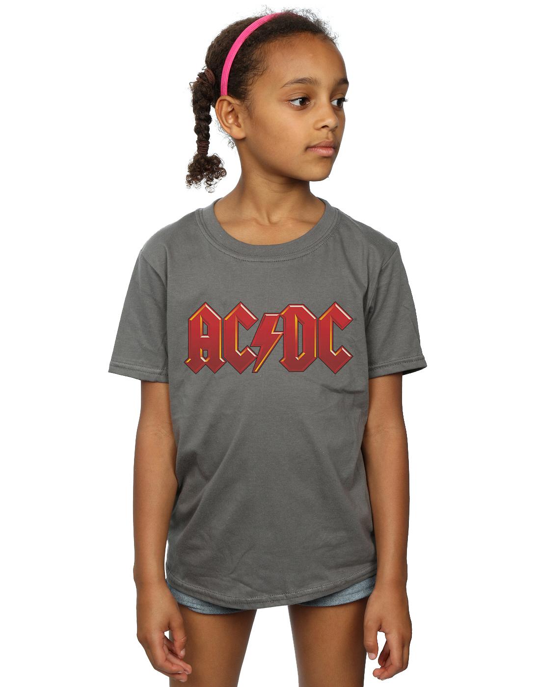 AC//DC ni/ñas Red Logo Camiseta