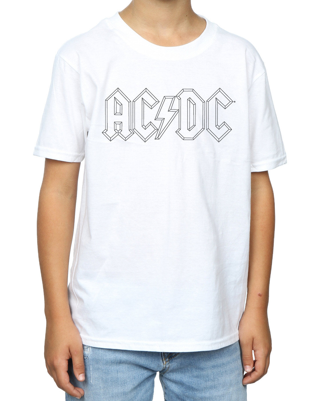 AC-DC-Garcon-Black-Outline-Logo-T-Shirt