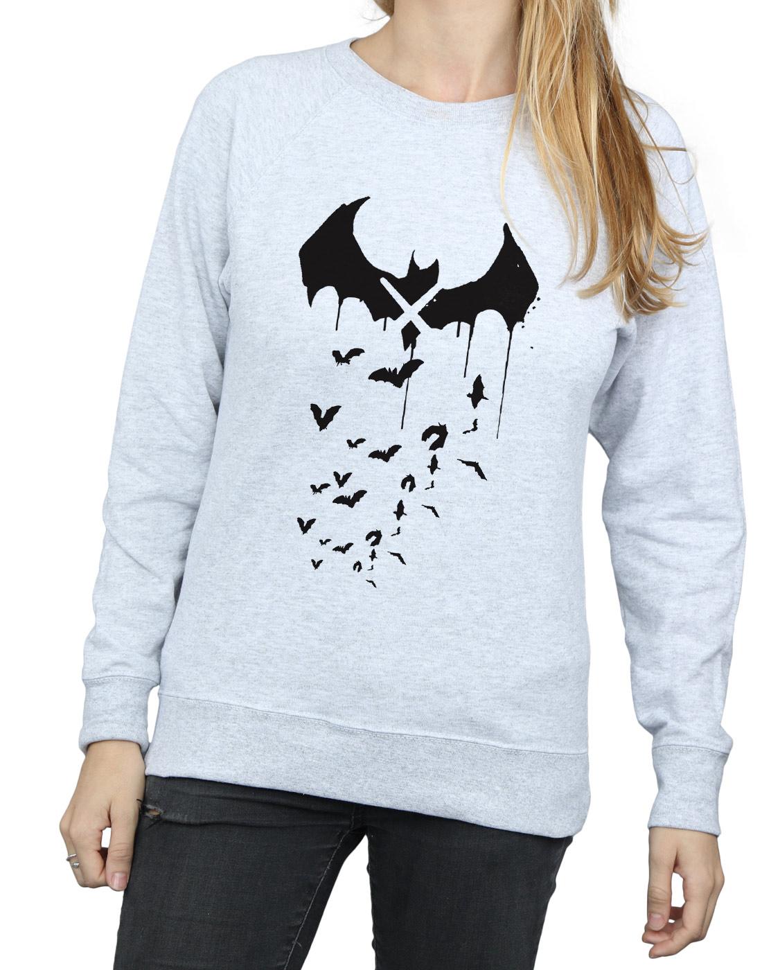 DC Comics Damen Batman Arkham Arkham Arkham Knight Bats X Drip Sweatshirt | Erste Klasse in seiner Klasse  | Für Ihre Wahl  | Gutes Design  1da491