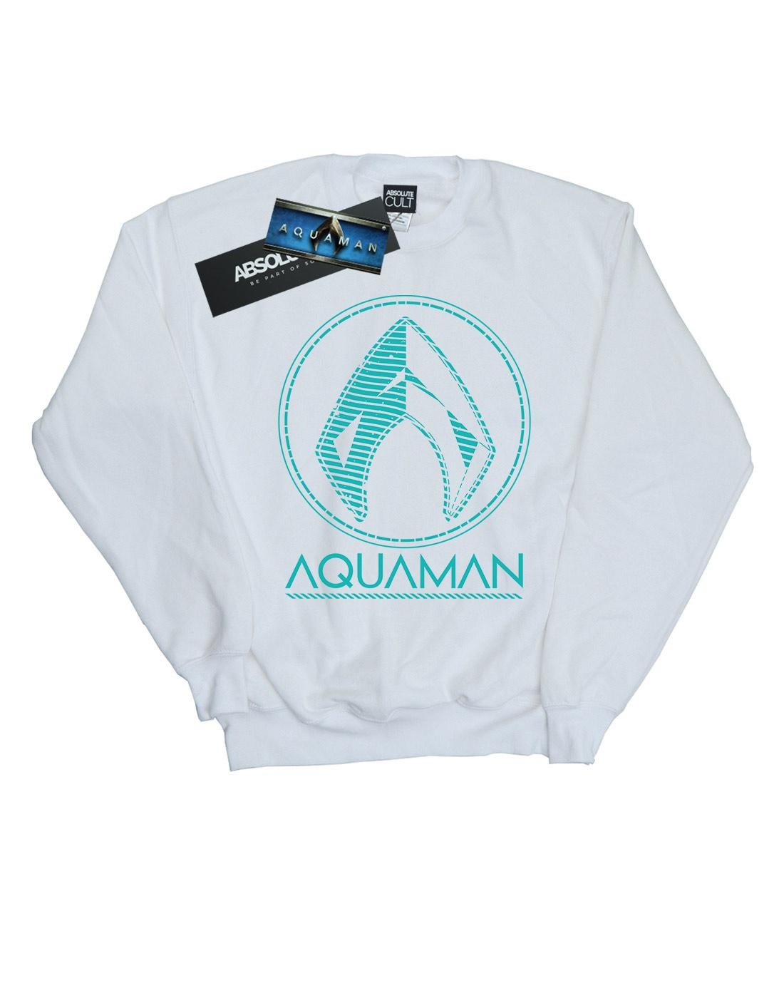 DC-Comics-Men-039-s-Aquaman-Aqua-Logo-Sweatshirt thumbnail 11