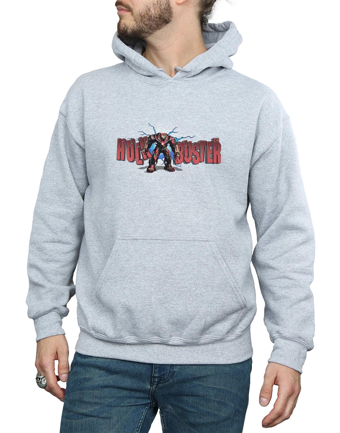 Avengers Uomo Uomo Uomo Infinity War Hulkbuster 2.0 Felpa Con Cappuccio e65c02