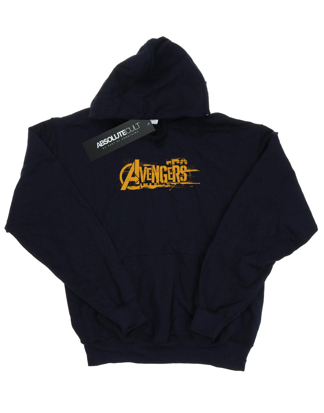 Avengers-Ninos-Infinity-War-Orange-Logo-Capucha