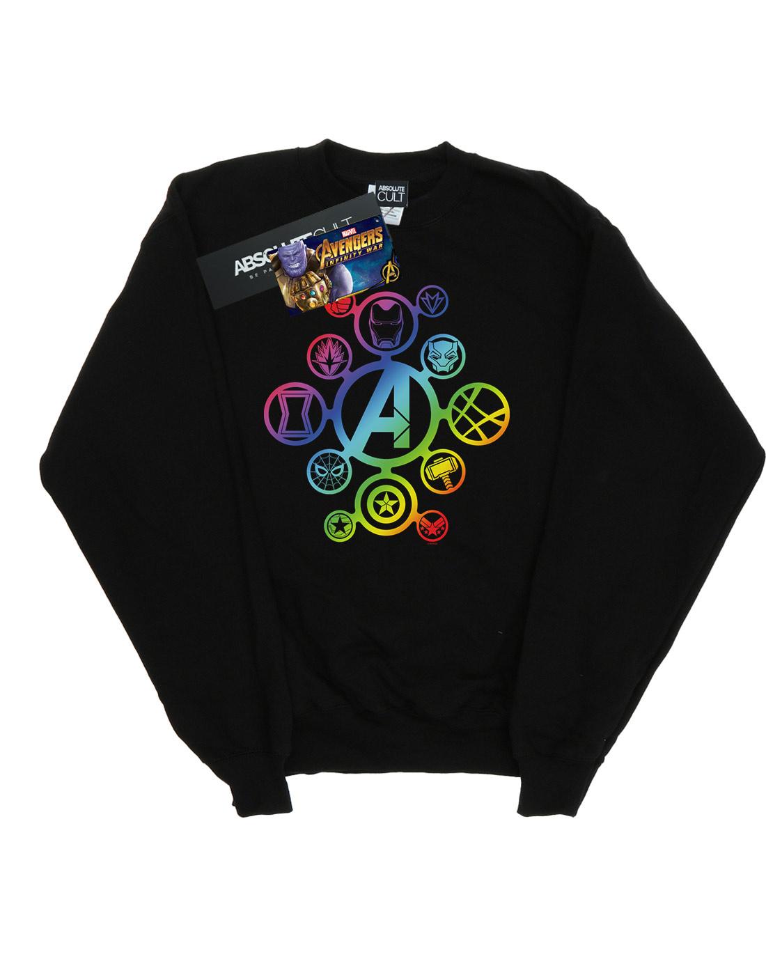 Marvel Girls Avengers Infinity War Rainbow Icons T-Shirt