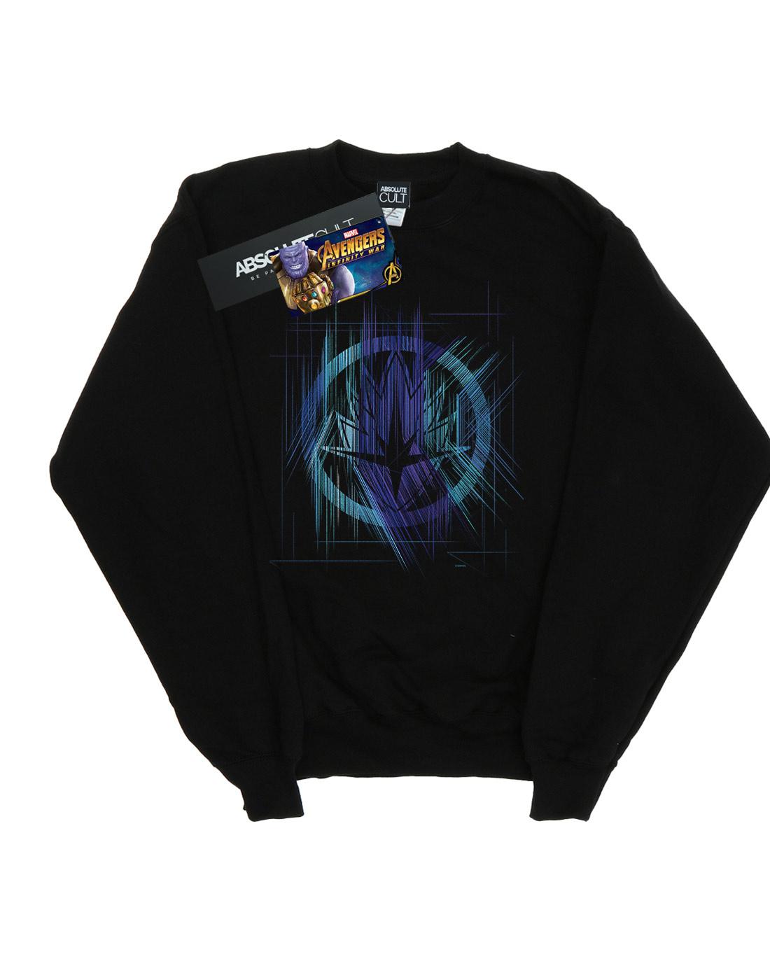 Marvel Damen Avengers Avengers Avengers Infinity War Guardian Lines Sweatshirt | Sorgfältig ausgewählte Materialien  | Authentische Garantie  | Spielzeugwelt, glücklich und grenzenlos  8f7e71