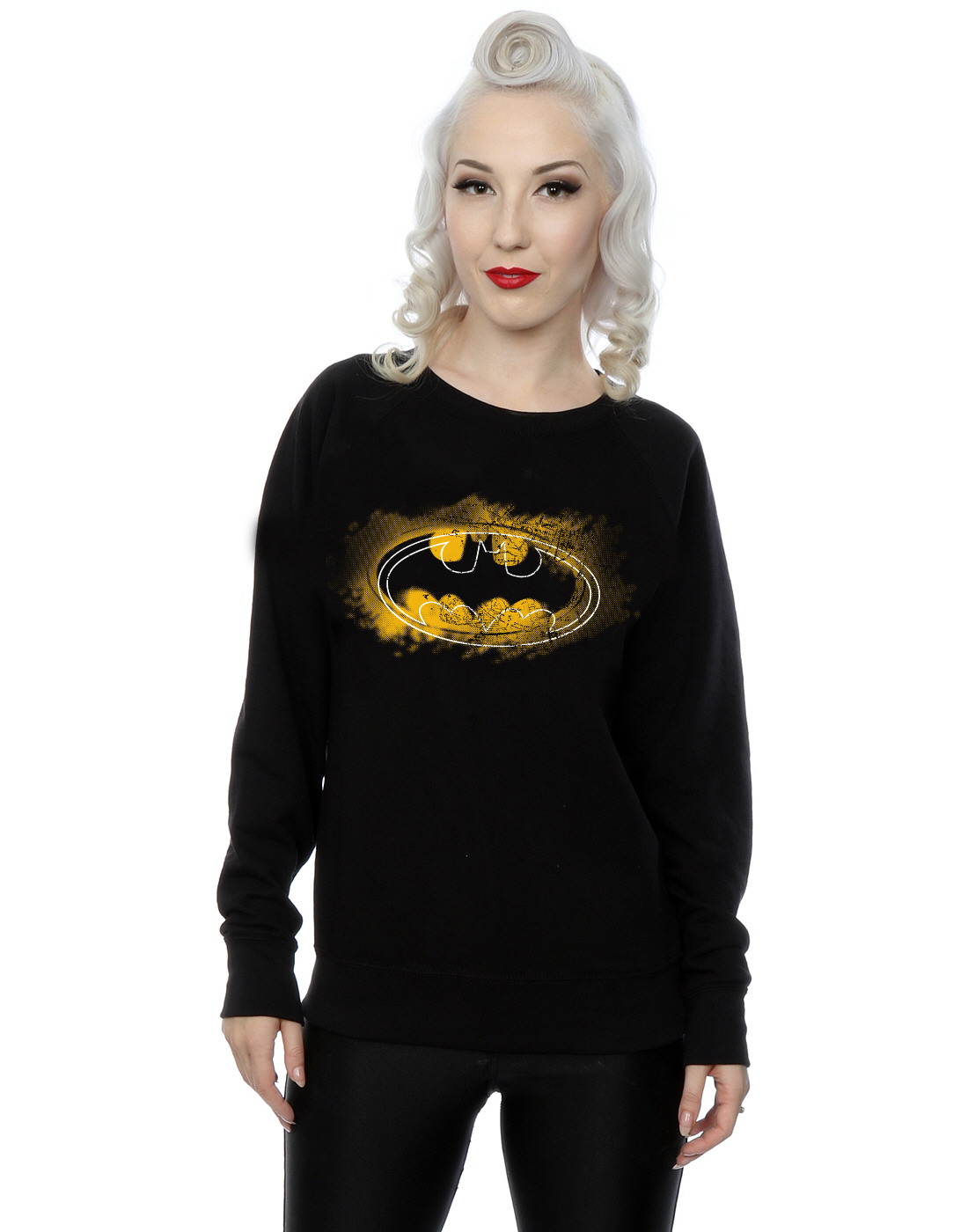 Felpa Donna Batman Comics Spray Dc Logo wx0nYq7SR