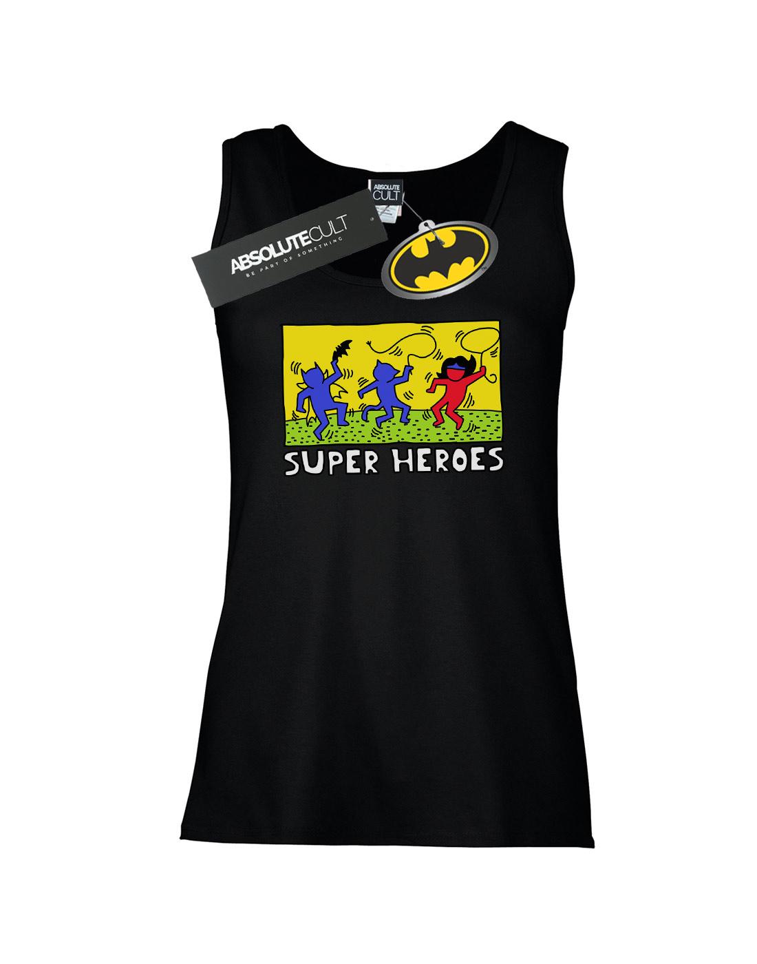 DC-Comics-Women-039-s-Batman-Pop-Art-Tank-Top thumbnail 5