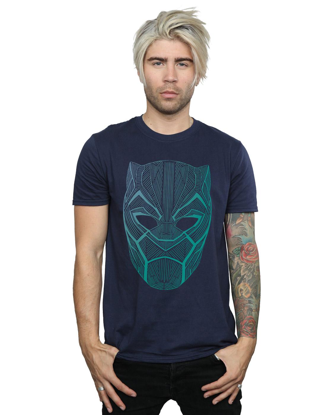Black Panther Mask Camiseta para Hombre