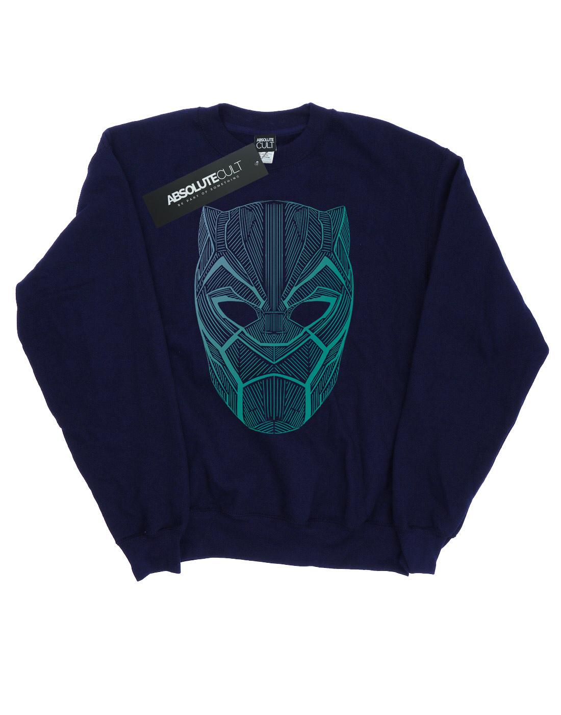 Felpa Tribal Mask Uomo Black Panther Marvel zqUOZTxwx1