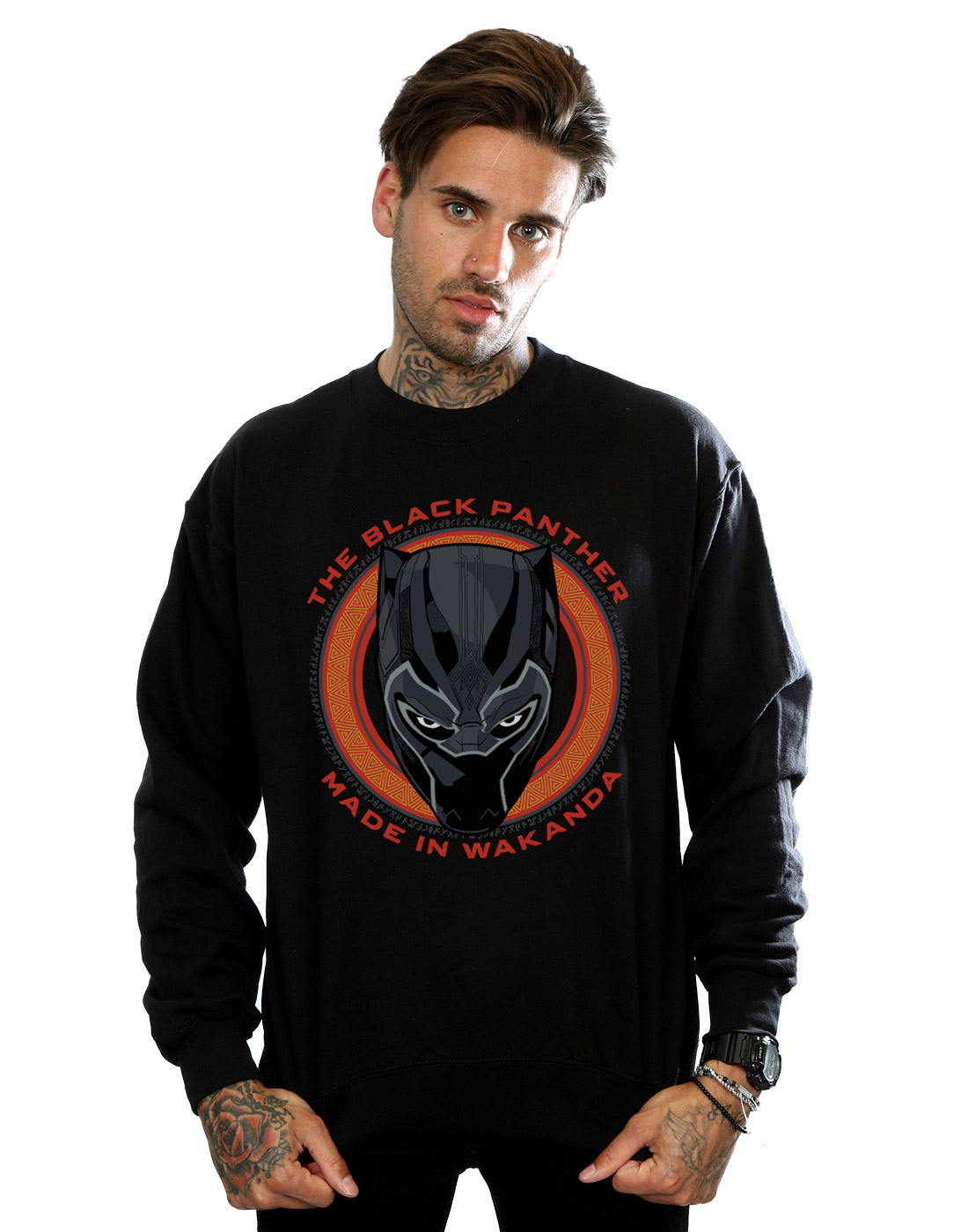 Black Uomo In Red Made Marvel Wakanda Felpa Panther I5ddq