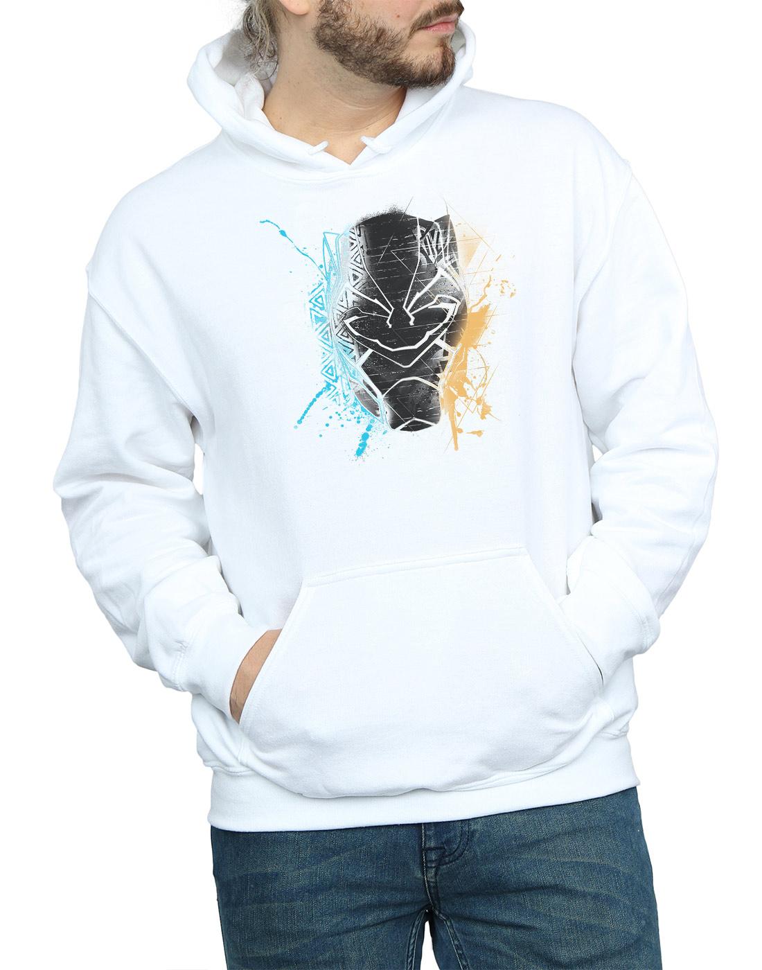 Marvel Herren schwarz schwarz schwarz Panther Splash Kapuzenpullover 3d159f
