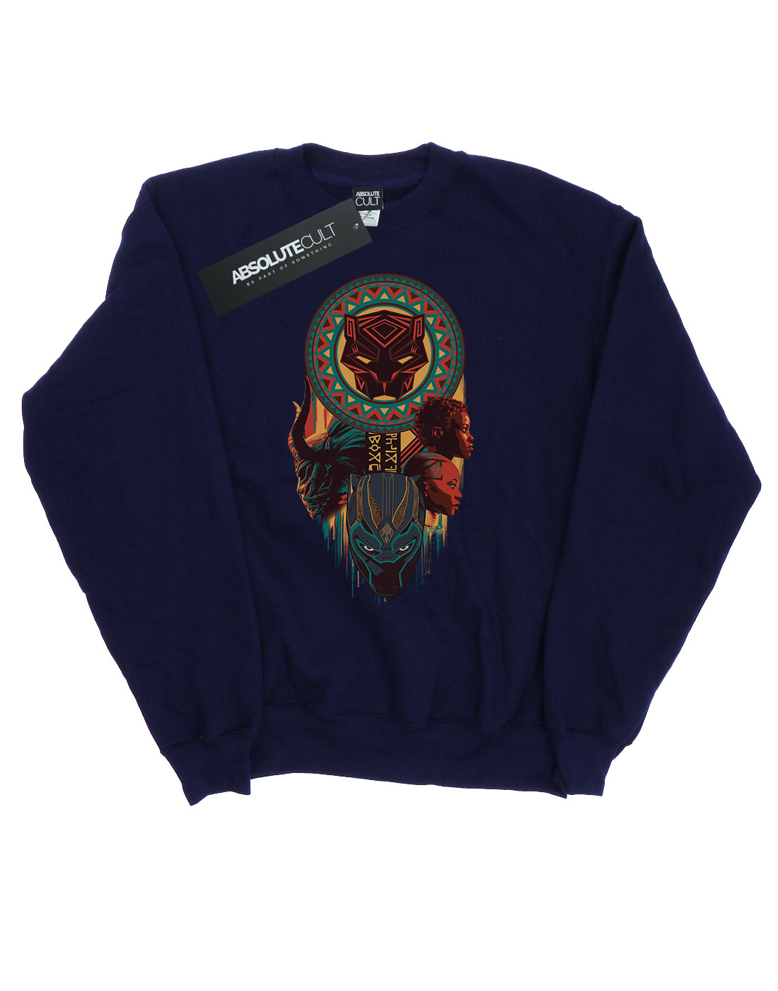 Marvel Mens Black Panther Totem Sweatshirt Ebay