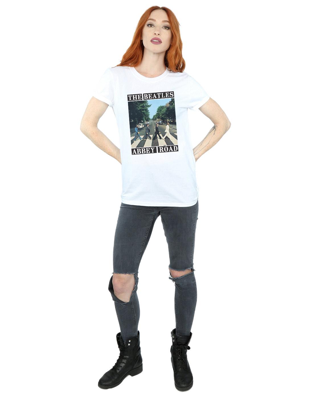 The Beatles Women/'s Abbey Road Boyfriend Fit T-Shirt