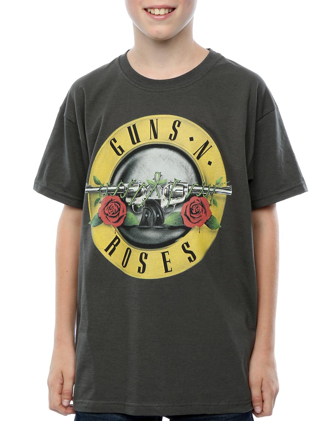guns n roses boys bullet logo t shirt. Black Bedroom Furniture Sets. Home Design Ideas