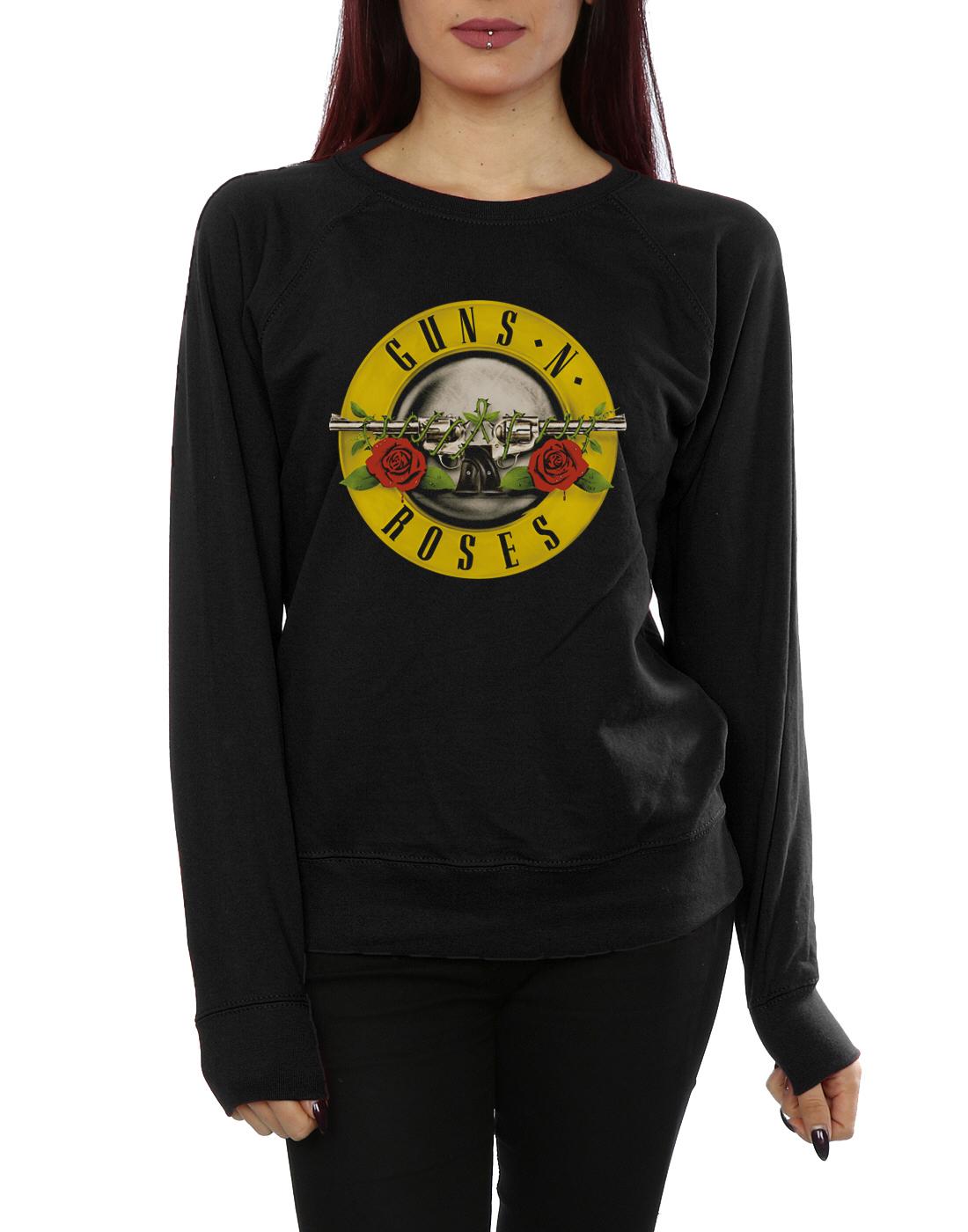 Donna Felpa N Guns Bullet Roses Logo 4EzvBz