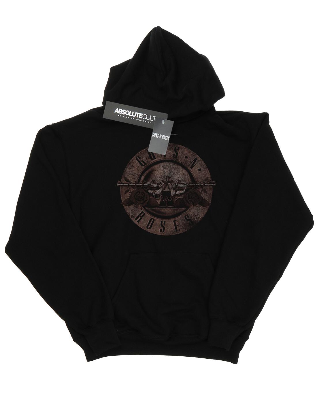 Uomo Con Cappuccio Roses Guns Logo Sepia Felpa N Bullet EOTcgq8Fc