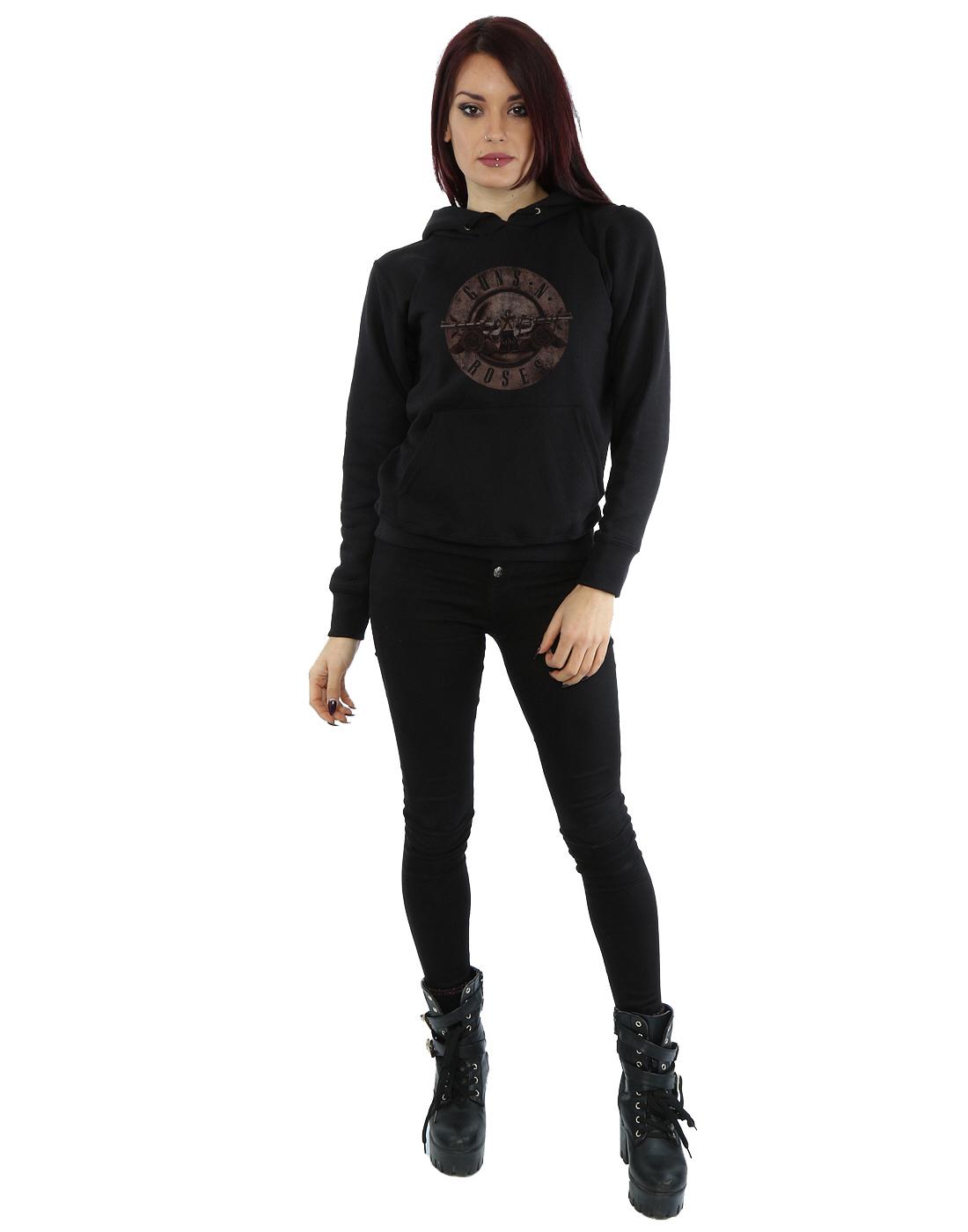 Bullet Capuche N Guns Sepia Roses Logo Sweat Femme TaqZwFA