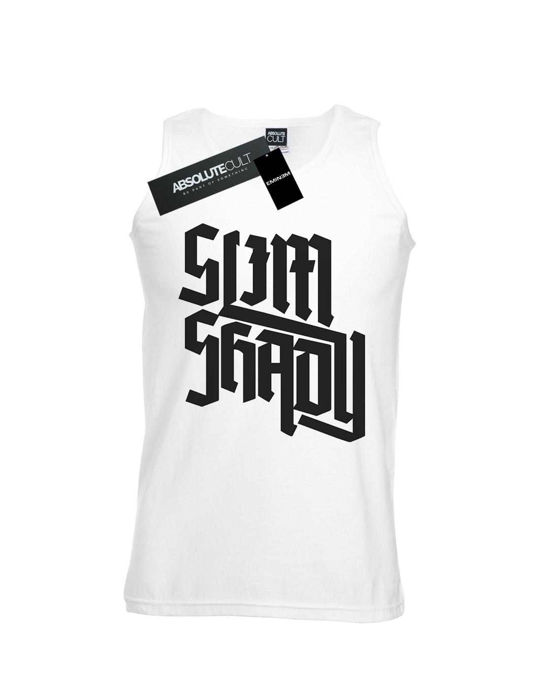 618c758694b05b Eminem Men s Slim Shady Text Tank Top