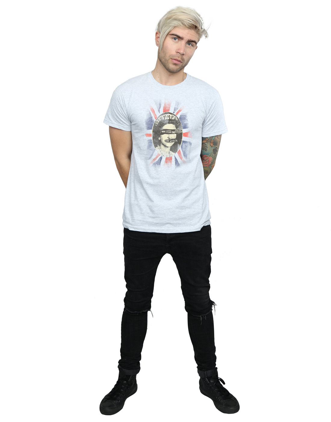 SEX-Pistols-UOMO-GOD-SAVE-THE-QUEEN-t-shirt miniatura 15