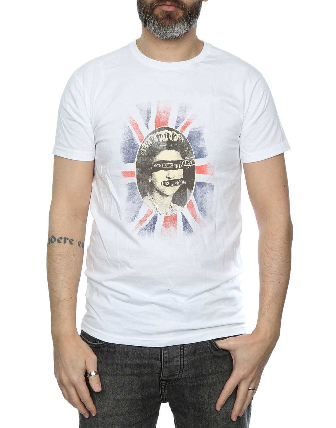SEX-Pistols-UOMO-GOD-SAVE-THE-QUEEN-t-shirt miniatura 19