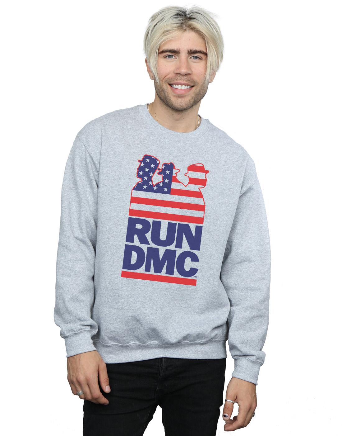 Run DMC Herren USA Silhouette Sweatshirt