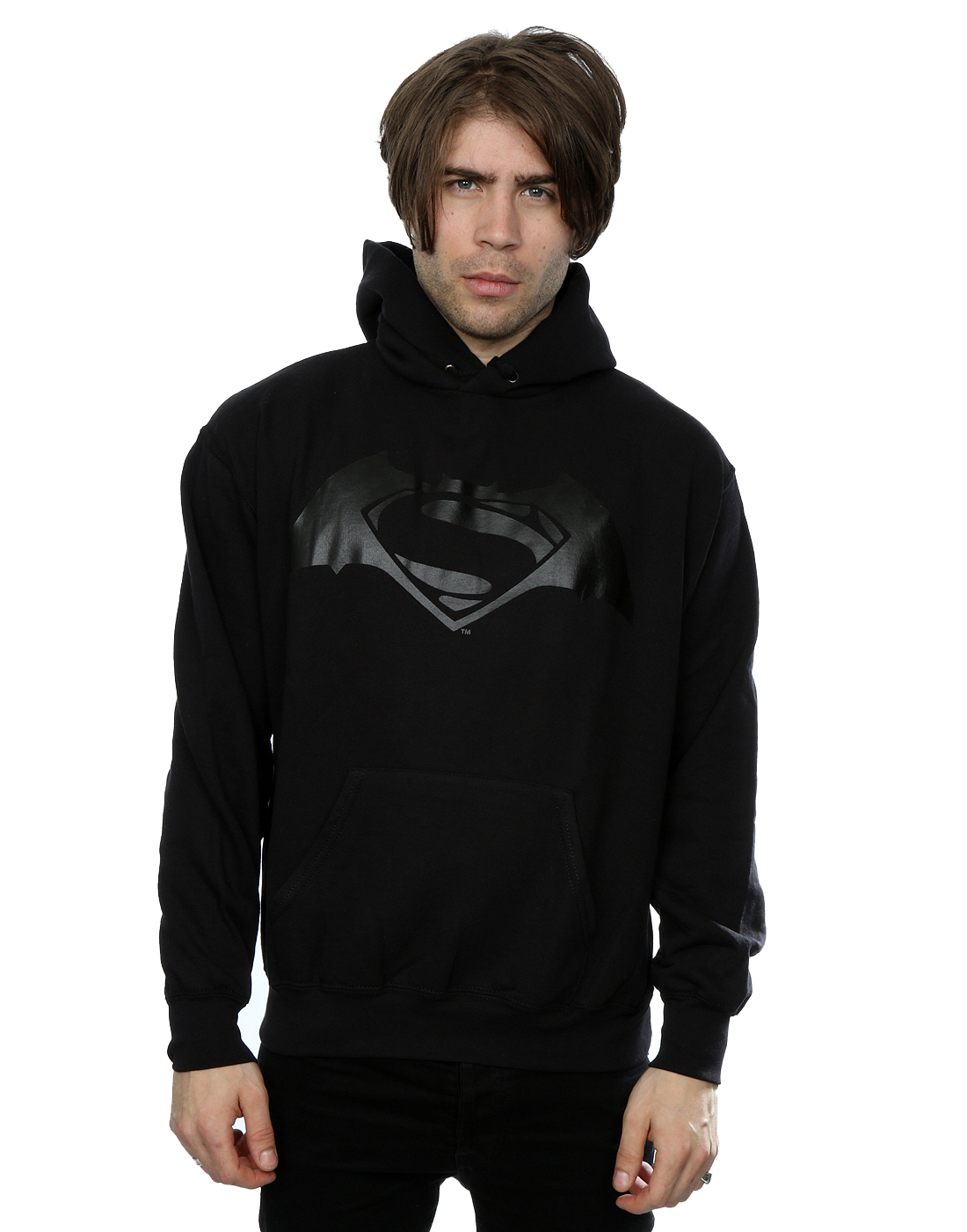 DC Comics Herren Batman v Superman Logo Print Kapuzenpullover