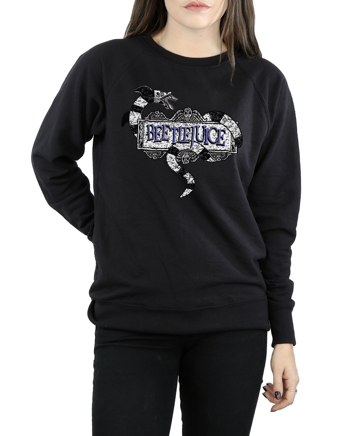 Beetlejuice-mujer-Sandworm-Logo-Camisa-De-Entrenamiento