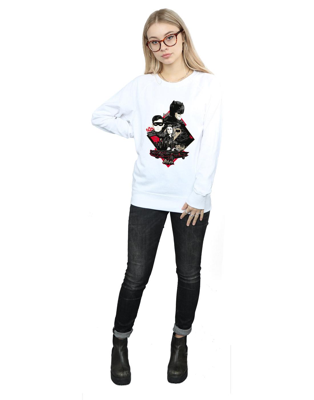 DC Comics Damen Batman TV Series Character Skyline Sweatshirt Sweatshirt Sweatshirt | Good Design  | Optimaler Preis  | Qualität Produkte  d3c639