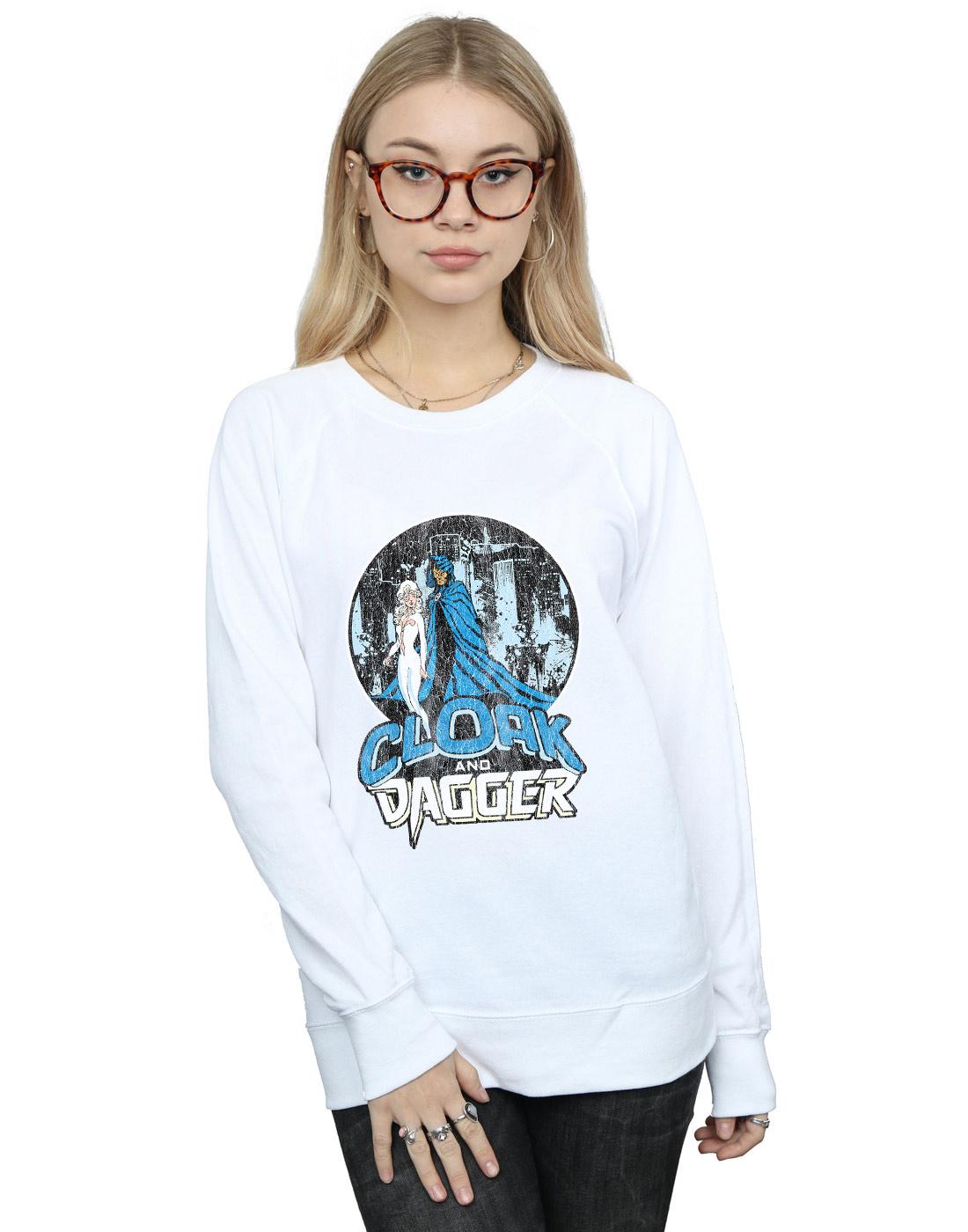Cape Femme Marvel shirt Sweat Dague Et Rétro Femme rrqXdw