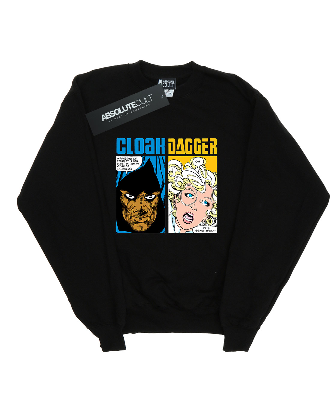 Marvel Damen Cloak And Dagger Comic Panels Sweatshirt   Neu  Neu  Neu    Ausreichende Versorgung  ec6044