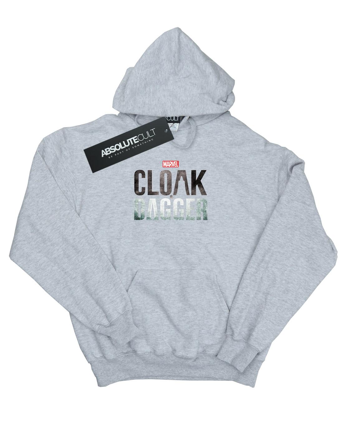 Marvel Uomo Cloak And Dagger Logo Felpa Con Cappuccio Cappuccio Cappuccio 8550dc