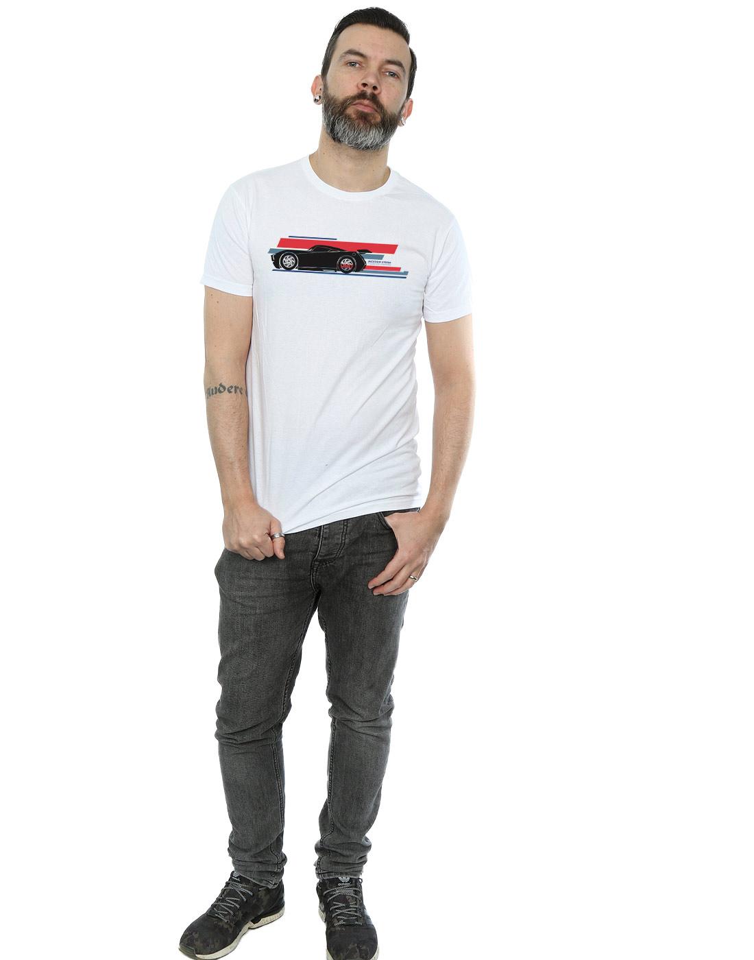 disney men's cars jackson storm stripes tshirt  ebay